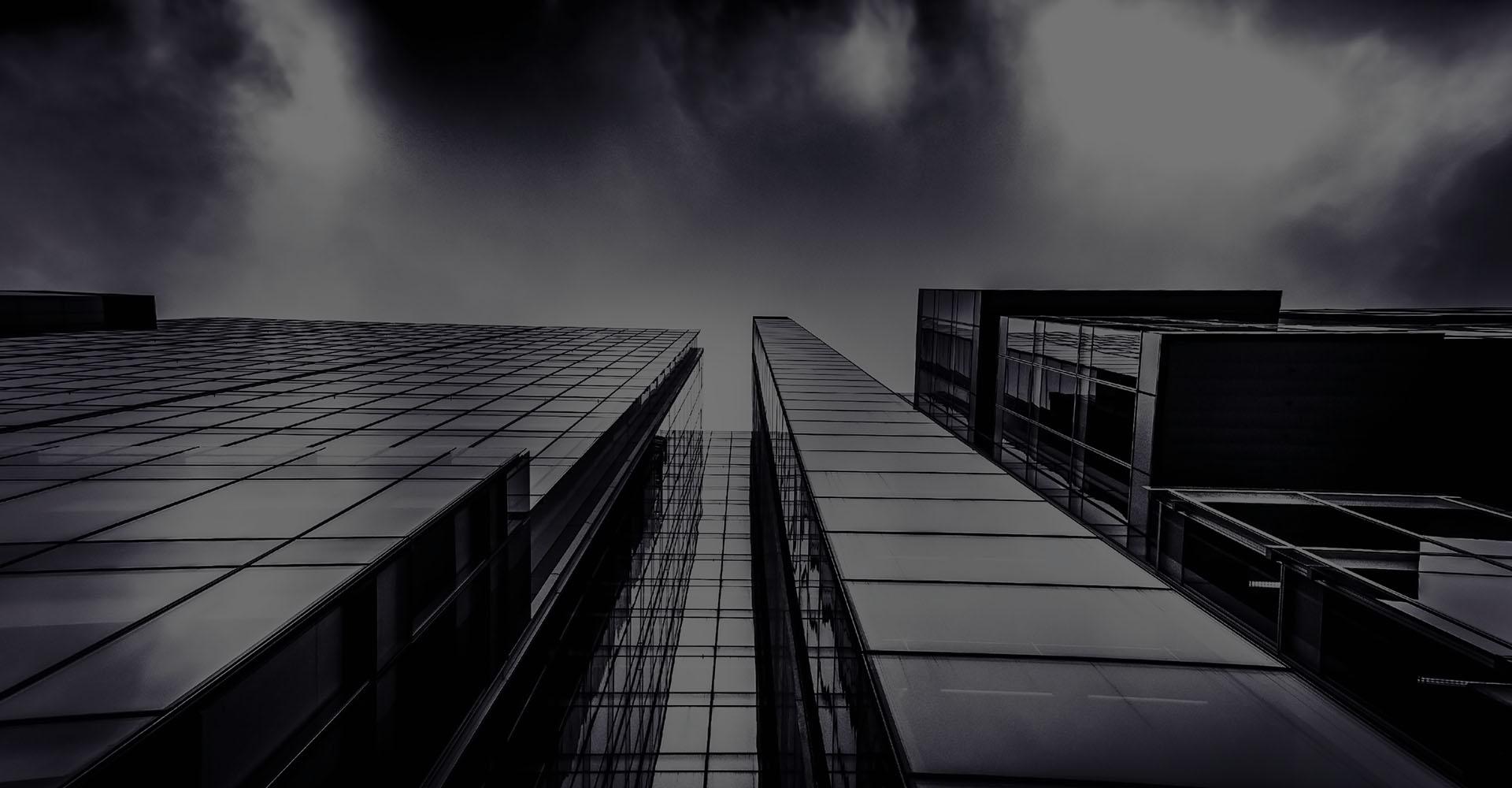 Building skyscraper looking up vertically